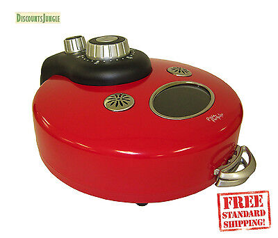 Theo & Co. Perf-1000 Pizza Perfector Countertop Perfect Pizza Oven Maker  Red