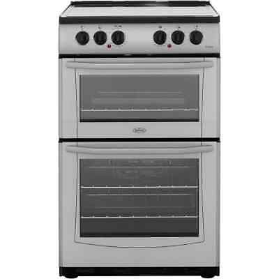 Belling E552 Enfield Free Standing Electric Cooker with Ceramic Hob 55cm Silver