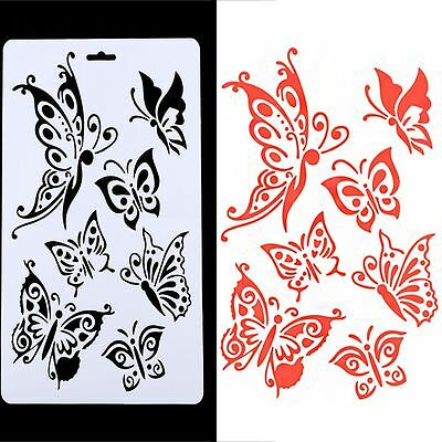 2PCS Tools Embossing Paper Cards Butterfly Stencils Scrapbooking Stamps Album