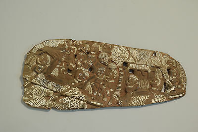 Papua New Guinea Story Board Kambot Carved Wood Relief Storyboard