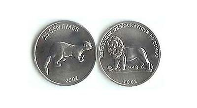 Congo: Uncirculated Coin Pair, 1 To 50 Centimes