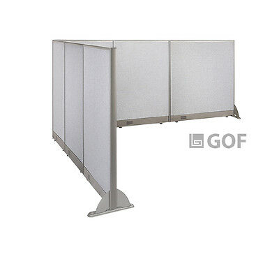 GOF L-Shaped Freestanding Partition 114D x 120W x 48H / Office, Room Divider