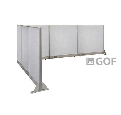 GOF L-Shaped Freestanding Partition 114D x 144W x 48H / Office, Room Divider