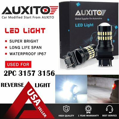 2400LM Back-up Reverse Light 3157 White 6000K LED Bulbs for Ford Crown Victoria