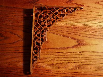 Antique  EASTLAKE Victorian Cast Iron Architectural Shelf Bracket REAL LOT D