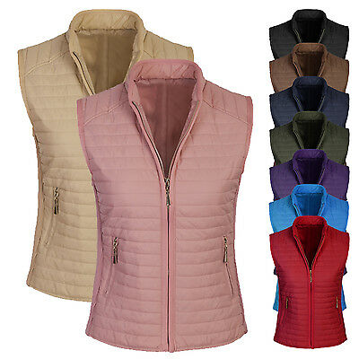 Women's Basic All Seasons Quilted Fully Lined Lightweight Vest S,M,L,XL