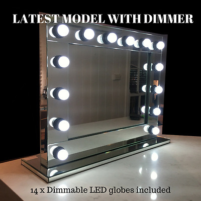 Hollywood-Makeup-Mirror-with-DIMMABLE-LED-lights- Vanity Make Up Beauty Mirror
