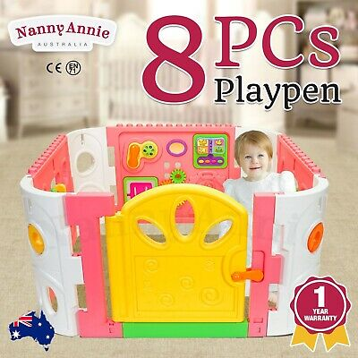 Baby Playpen - Interactive Baby Room Play Den WITH GATE - Pink