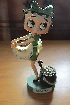 Birth Month March - Irish Betty Boop Figurine - Danbury Mint