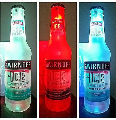Smirnoff Ice red white and blue Bottle Light Led Pub Bar Man Cave Neon Sign