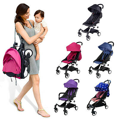 Outdoor Mini Baby Stroller Travel Lightweight Small Pushchair Carriage Foldable