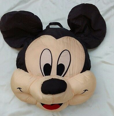 "Disney Mickey Mouse Puffy Pillow 18"" Tall Nylon 3D"