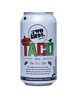 Two Birds Brewing Taco Beer Cans 375mL case of 24 Craft Beer