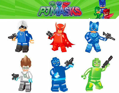 2017 New PJ MASKS Mini Figures Building Blocks Toys Gift