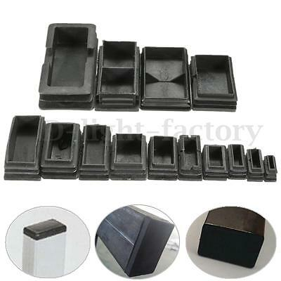 Plastic Black Blanking End Cap Rectangular Inserts Cover For Tube Pipe Section