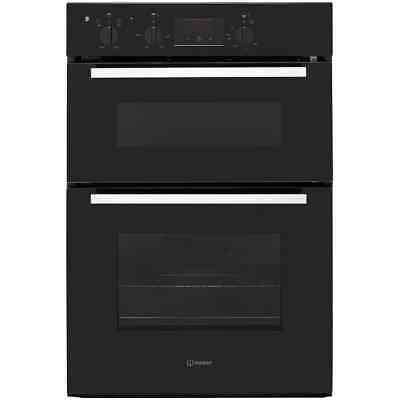 Indesit IDD6340BL Aria Built In Electric Double Oven 60cm Double Cavity Black
