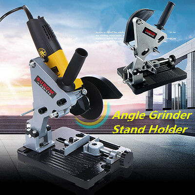 Electric Angle Grinder Cutter + Support Bracket Holder Stand Dock Cast Iron Base