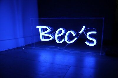 Bec's Custom Neon Sign, Neon Light, Wedding decoration