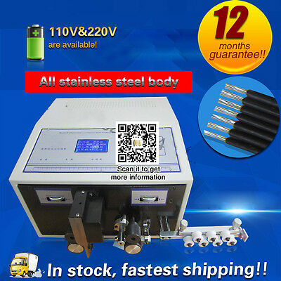 DHL shipping,Computer Automatic Wire Stripping Machine, Wire Cutting Machine