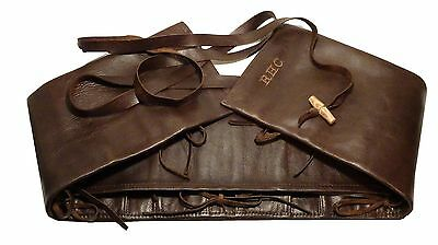 Watch Roll 10 pouch Travel storage organizer - Leather personalised by LOTHS UK