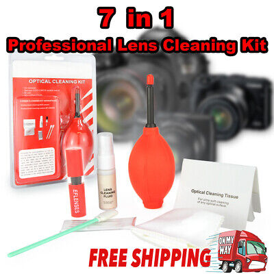 Professional 7 in 1 Camera Lens Cleaning Kit + Pen Cleaner Set For Canon SLR EOS