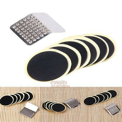 Cycling Bicycle Bike Repairing Fix Kit Flat Rubber Tire Tyre Patch Glueless Set