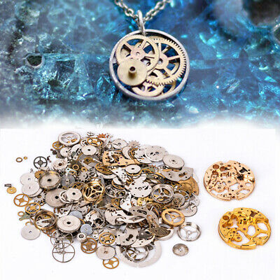 50g Watch Parts Steampunk Cogs Jewellery Clock Art Craft Gears Wheels DIY Charms