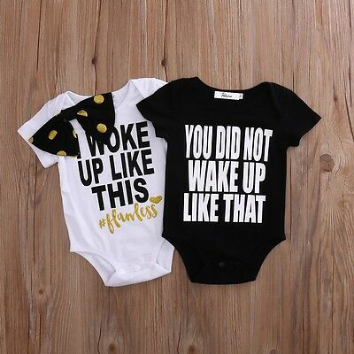 Adorable Newborn Baby Infant Boys Girls Romper Jumpsuit Bodysuit Outfits Clothes