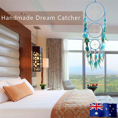 Large 68cm Dream Catcher Feather Home Wall Hanging Room Decoration Ornament AU