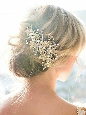 Wedding Bridal Headband Headpiece Bride Hair Pins Accessories Rhinestone 2 pc