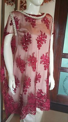 Pakistani/Indian/Asian Formal/Party Dress Embroided net cape