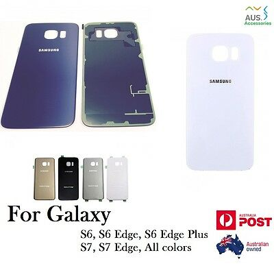Samsung S8 S6 S7 Edge S8 Plus Back Rear Glass Housing Battery Cover Replacement