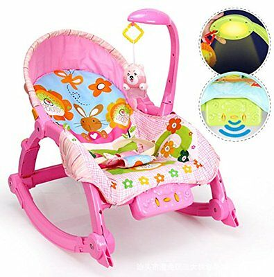Best For Kids 2 IN 1 SCHAUKELSITZ BUNNY PINK BABYWIPPE ROCKER WIPPE L319