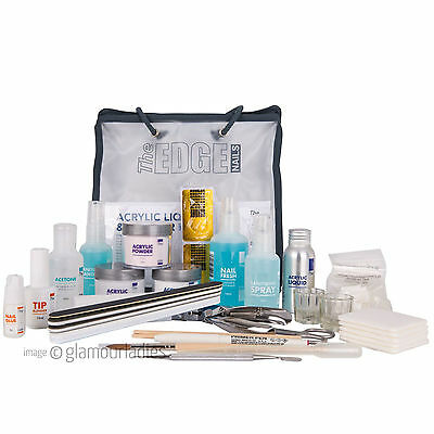 THE EDGE NAILS Professional Acrylic Liquid and Powder Kit Training or Student
