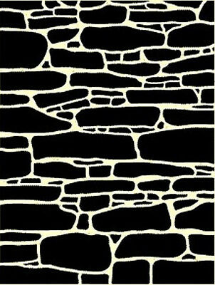 Brick Wall Background 2  190m DURABLE MYLAR Stencil  A5, A4, A3 *NEW*