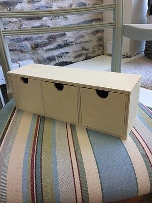 3 Drawer Storage - Plain Wood For Painting Or Decoupage