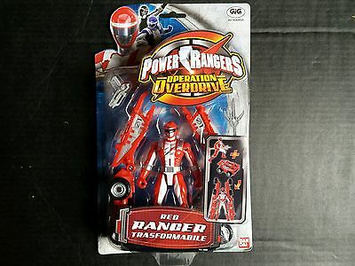 Bandai Power Rangers Operation Overdrive Red Ranger Transformable ITA MOC OVP