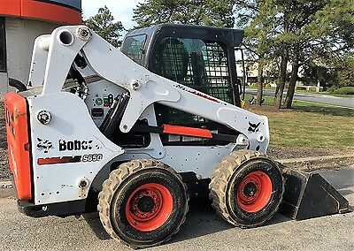 Bobcat S650 Skid Steer Loader Heated Ac Cab Low Hours Bucket