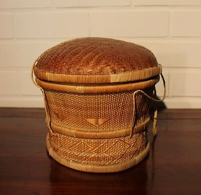 CONGO old african basket ancien pannier afrique PENDE afrika africa wicker rare