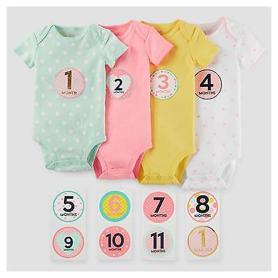 Baby Girls' Bodysuit and Stickerpack - Just One You™ Made by Carter's&#1...
