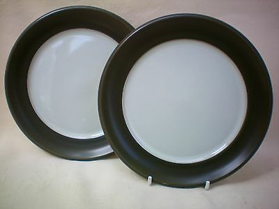 "Denby Chevron Set of 2 X Side Tea Plate 6.5"" dia Excellent Condition"