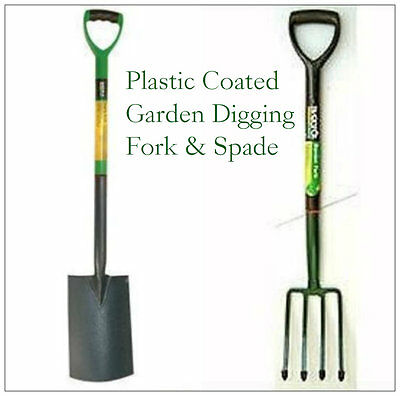 2Pc Garden Border/Digging Fork And Spade Steel Gardening Set Home Landscaping