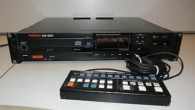 Tascam CD-501 Studio Rack Mount CD Player with Remote XLR and RCA Out