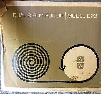 Atlas Warner Dual 8mm Film Editor Vintage Mint Condition