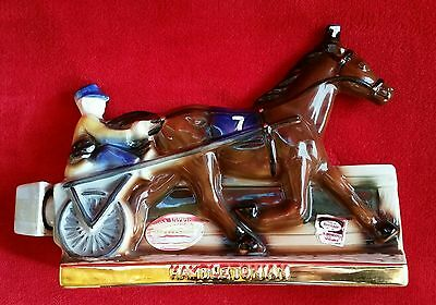 Ezra Brooks Decanter c1970 Heritage China Hambletonian Jockey & Race Horse