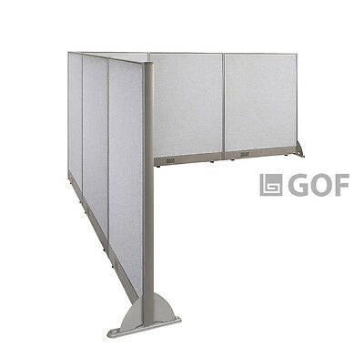 GOF L-Shaped Freestanding Partition 120D x 144W x 48H / Office, Room Divider
