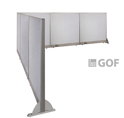 GOF L-Shaped Freestanding Partition 126D x 144W x 48H / Office, Room Divider