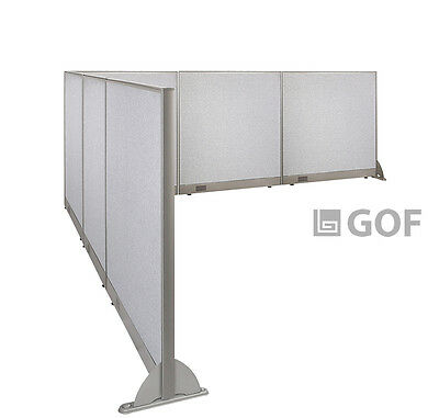GOF L-Shaped Freestanding Partition 144D x 144W x 48H / Office, Room Divider