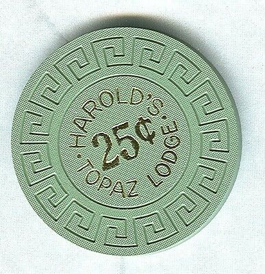 HAROLDS TOPAZ LODGE CASINO (TOPAZ LAKE) 25 CENT CHIP (SU) (N5793).xls