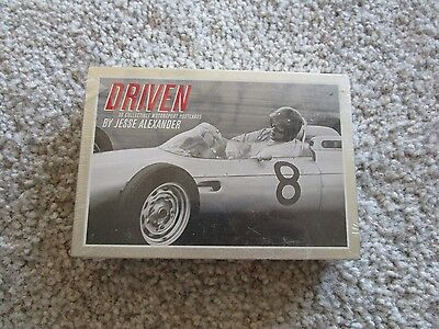 """Driven"" Collection of 30 Vintage Racing Postcards US in a Metal tin Case"